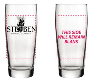 Steuben Brewing Company Pint Glasses